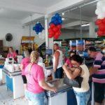 Foto Blitz Inauguração Mercado Círico caixas e público